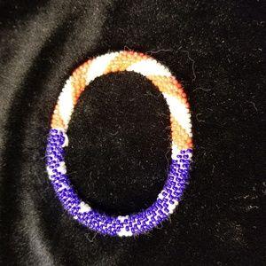 Jewelry - Patriotic seed bead bracelet.